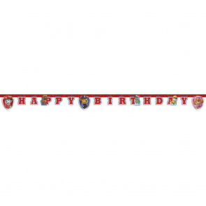"1 ""Happy Birthday"" Die-Cut Banner - Paw Patrol ready for action"