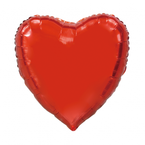 "XL Foilballoon heartshape, 36""- red"