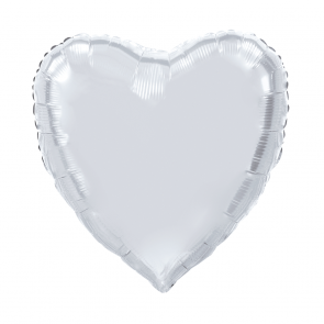 "XL Foilballoon heartshape, 36""- silver"