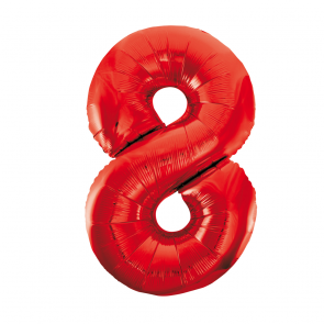 "Foilballoon No. 8, 34"" - red"