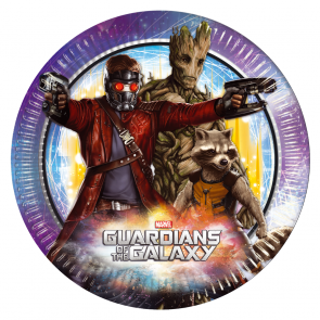 8 Paper Plates Large 23cm - Guardians of the Galaxy
