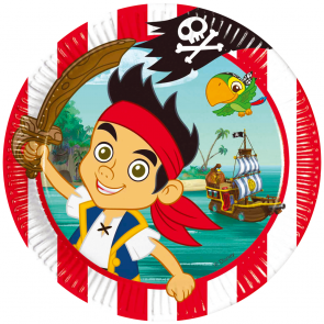8 Paper Plates Large 23cm - Jake and the Neverland Pirates