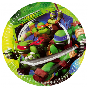 8 Paper Plates Medium 18cm - Ninja Turtles