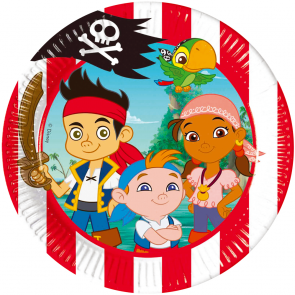 8 Paper Plates Medium 20cm - Jake and the Neverland Pirates