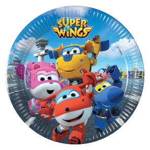 8 Paper Plates Medium 20cm - Super Wings