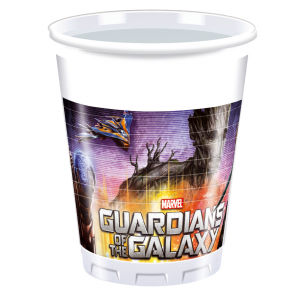 8 Plastic Cups 200 ml - Guardians of the Galaxy
