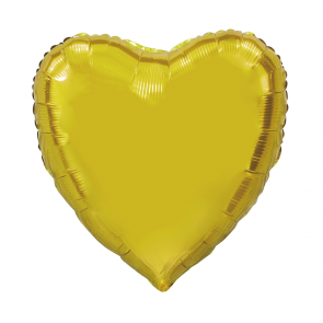 "XL Foilballoon heartshape, 36""- gold"