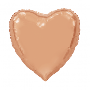 "XL Foilballoon heartshape, 36""- rose gold"