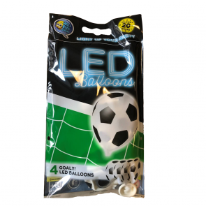 "4 LED balloons 12"" - GOAL - white"