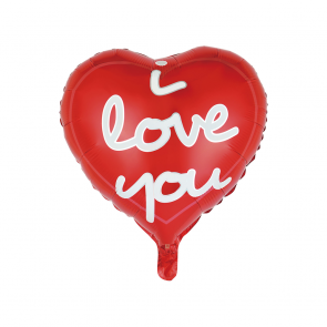 "Foilballoon heartshaped, 18""- I love you red"