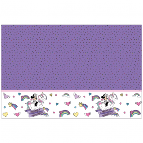 1 Plastic Tablecover 120x180cm - Minnie Unicorn