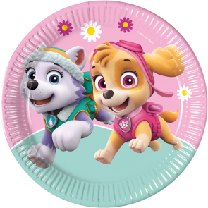8 Paper Plates Large 23cm - Paw Patrol Skye & Everest