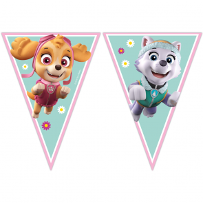 6 Triangle Flag Banner (9 Flags)  - Paw Patrol Skye & Everest