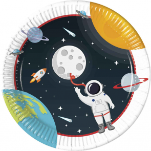 8 Paper Plates Large 23cm - Outer Space