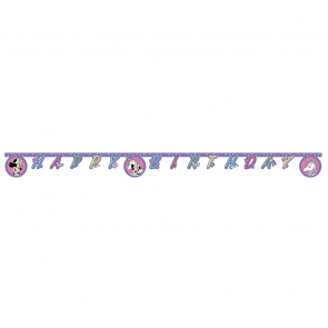 "1 ""Happy Birthday"" Die-Cut Banner - Minnie Unicorn"