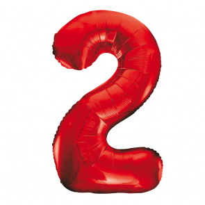 "Foilballoon No. 2, 34"" - red"