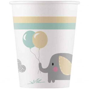 8 Paper cups 200ml - Elephant Baby