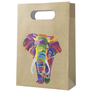 6 Paper Party Bags  - Elephant