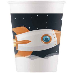 8 Paper cups 200ml - Outer Space