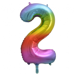 "Foilballoon No. 2, 34"" - rainbow"