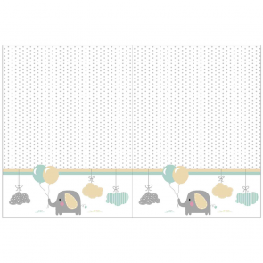 1 Plastic Tablecover 120x180cm - Elephant Baby