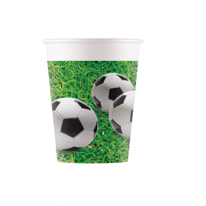 8 Paper cups 200ml - Football Party