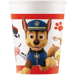 8 Paper cups 200ml - Paw Patrol