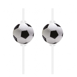 4 Medallion Paper Drinking Straws - Football Party
