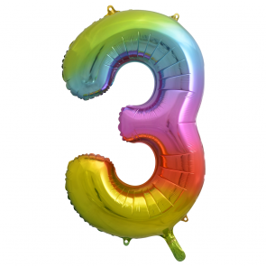 "Foilballoon No. 3, 34"" - rainbow"