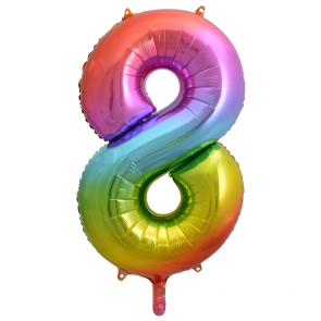 "Foilballoon No. 8, 34"" - rainbow"