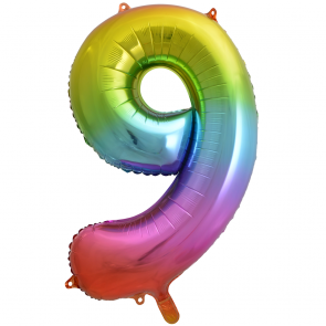 "Foilballoon No. 9, 34"" - rainbow"