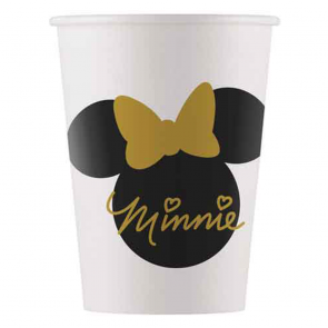8 Paper cups 200ml - Minnie Gold