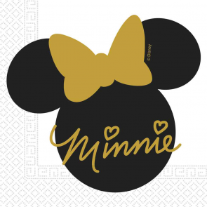 20 Two-Ply Paper Napkins 33x33cm - Minnie Gold