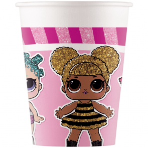 8 Paper cups 200ml - LOL Glitterati Metallic