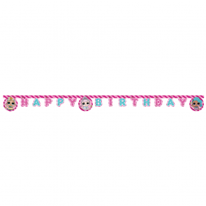 """Happy Birthday"" Die-Cut Banner - LOL Glitterati"