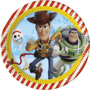 8 Paper Plates 23cm  -  Toy Story 4