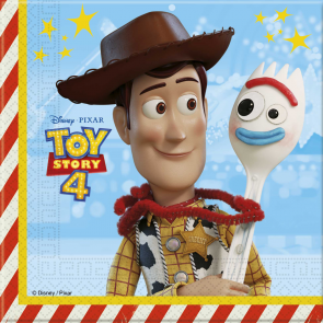 20 Two-Ply Paper Napkins 33x33cm - Toy Story 4