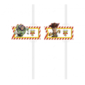 4 Medallion Paper Drinking Straws - Toy Story 4