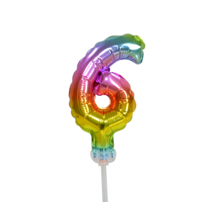 "Foilballoon cake No 6, 5"" - rainbow"