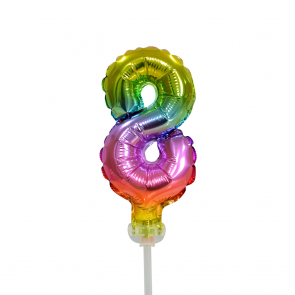 "Foilballoon cake No 8, 5"" - rainbow"