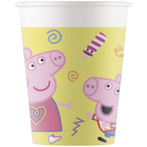 8 Paper cups 200ml - Peppa Pig
