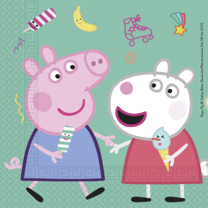 20 Two-Ply Paper Napkins 33x33cm - Peppa Pig