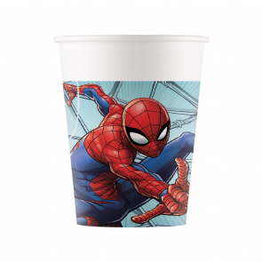8 Paper cups 200ml - Spiderman Team Up