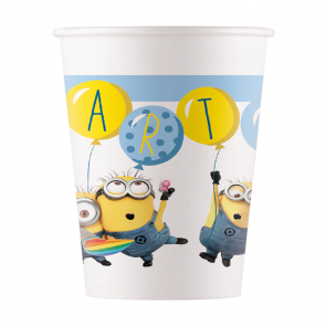 8 Paper cups 200ml - Lovely Minions