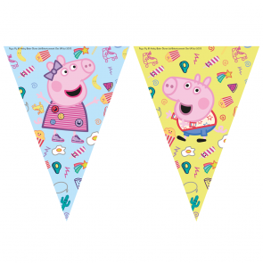 1 Triangle Flag Banner ( 9 flags ) - Peppa Pig