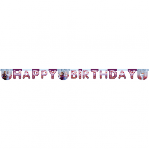 """Happy Birthday"" Die-Cut Banner Frozen 2"