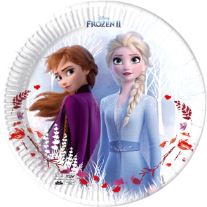 8 Paper Plates 23cm - Frozen 2 Destiny Awaits - Compostable + FSC