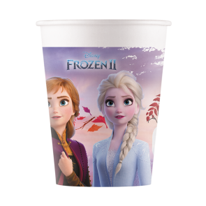 8 Paper cups 200ml - Frozen 2 Destiny Awaits - Compostable + FSC