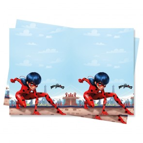 1 Plastic Tablecover 120x180cm - Miraculous Ladybug
