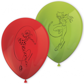 8 11 inches Printed Balloons - Miraculous Ladybug